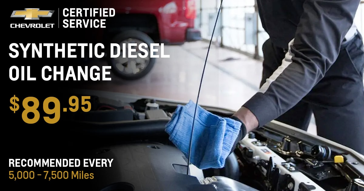 Chevrolet Synthetic Diesel Oil Change Service Special Coupon
