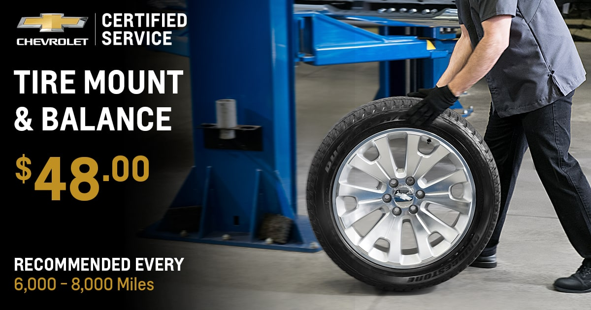 Chevrolet Tire Mount & Balance Service Special Coupon