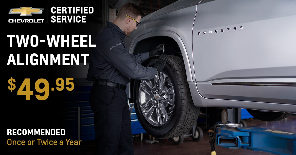 Chevrolet Two-Wheel Alignment Service Special Coupon