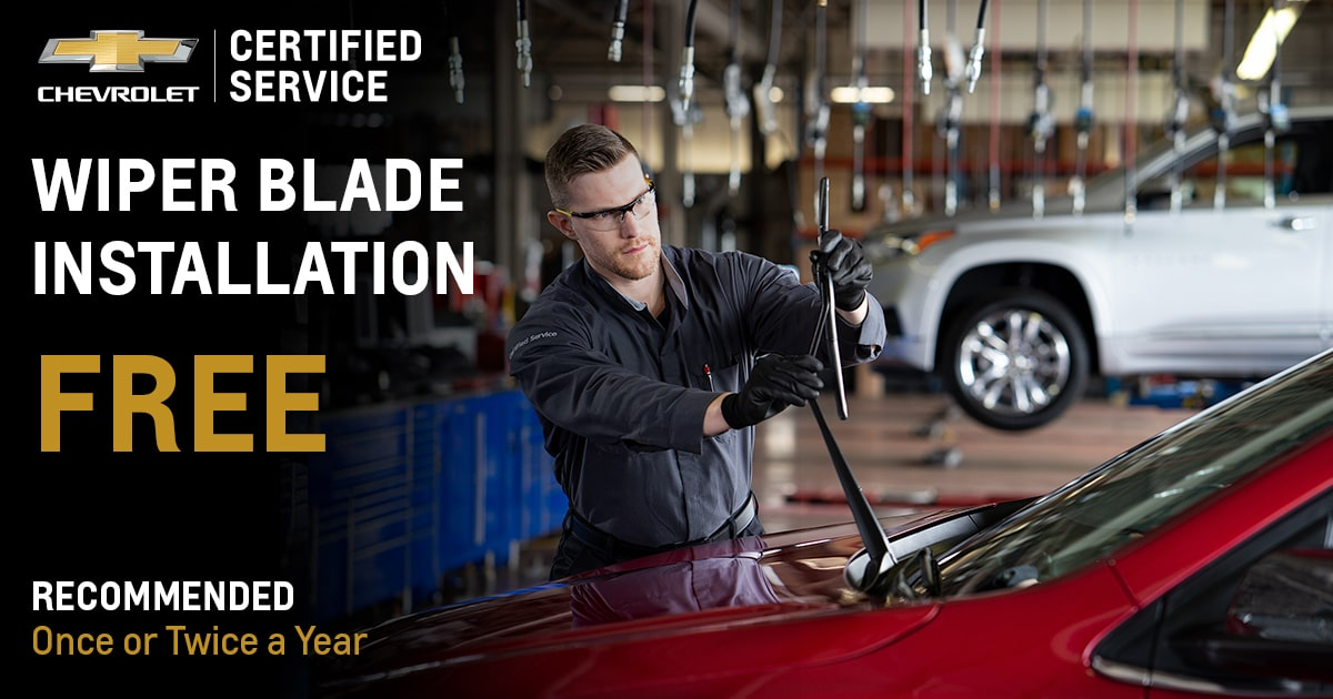 Chevrolet Wiper Blade Installation Service Special Coupon