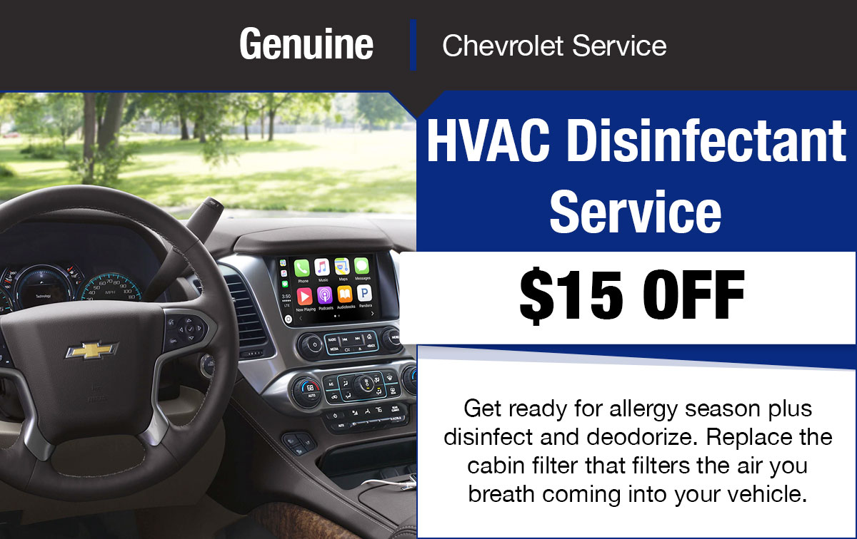 Chevrolet HVAC Service Special Coupon
