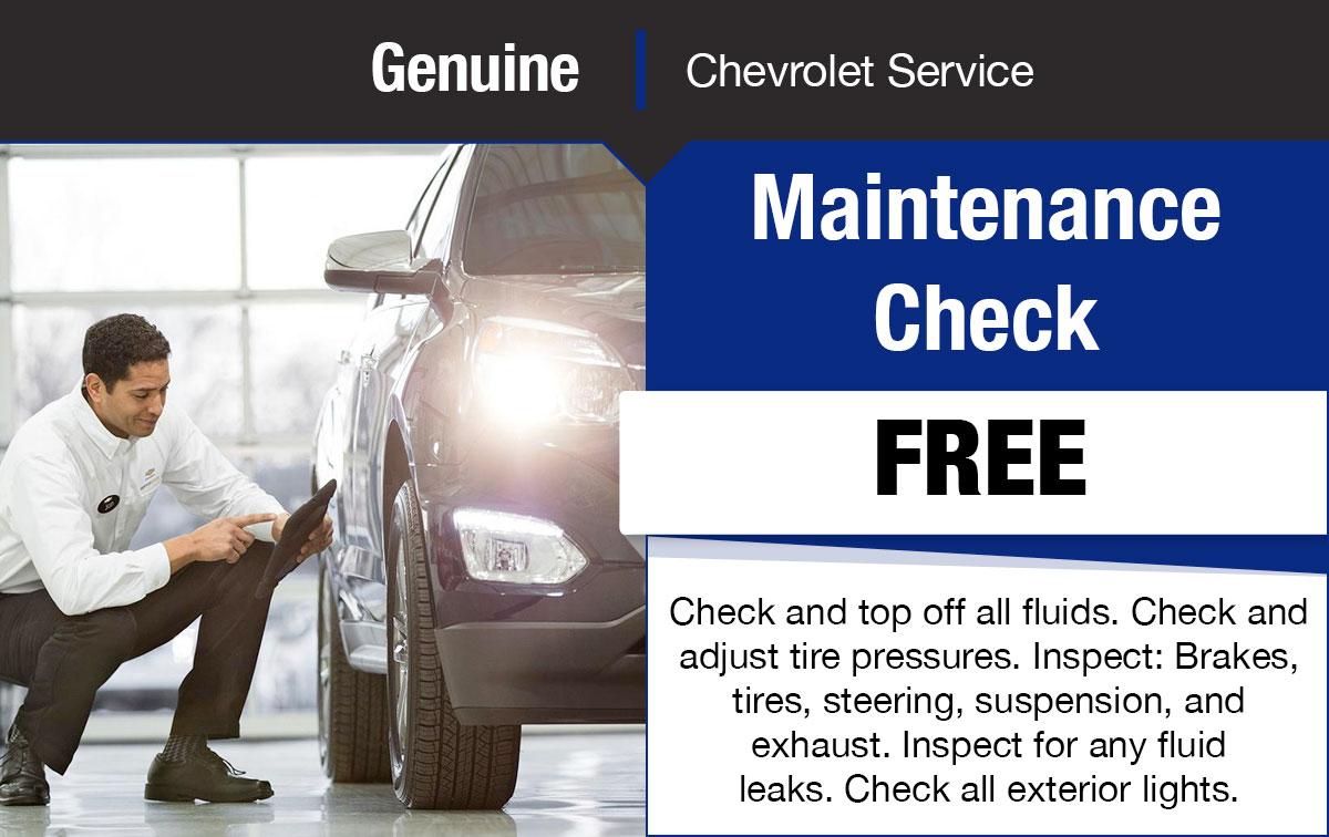Chevrolet Maintenance Check Service Special Coupon