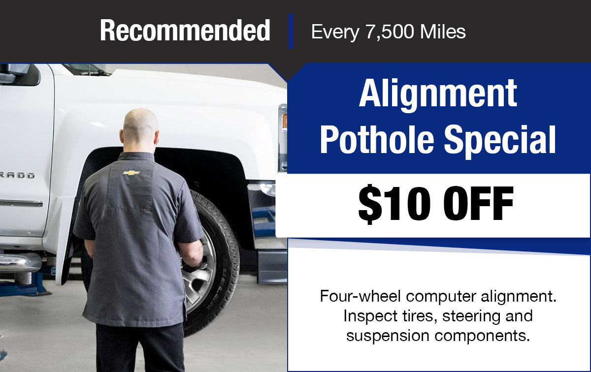 Chevrolet Alignment Pothole Special Coupon