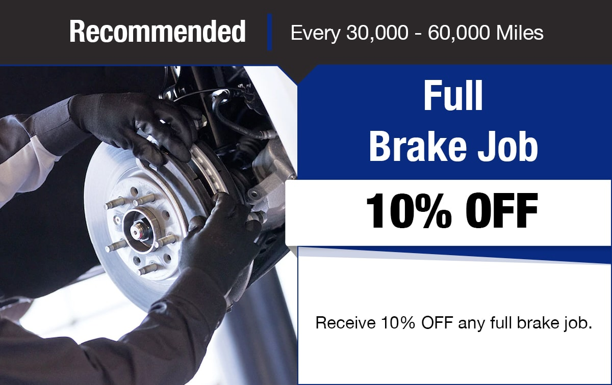 Chevrolet Full Brake Job Service Special Coupon