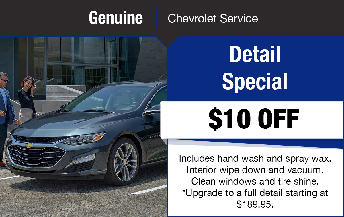 Chevrolet Mini Detail Special Coupon