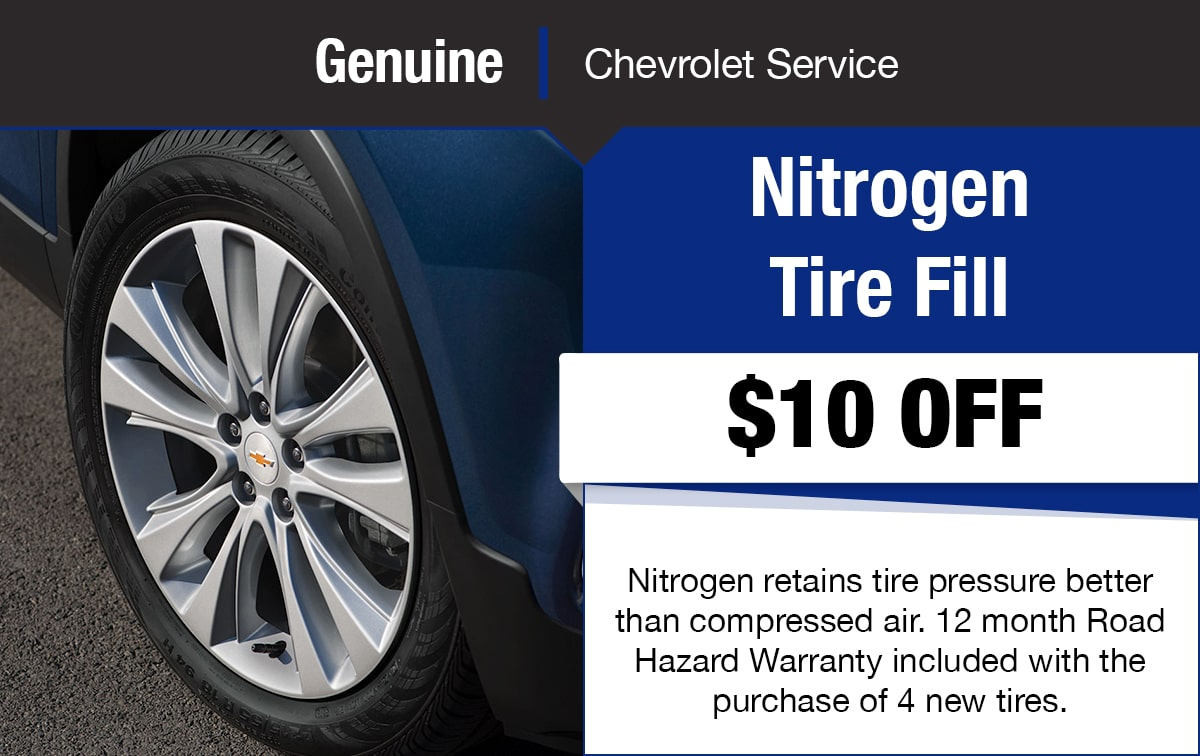 Chevrolet Nitrogen Tire Fill Service Special Coupon