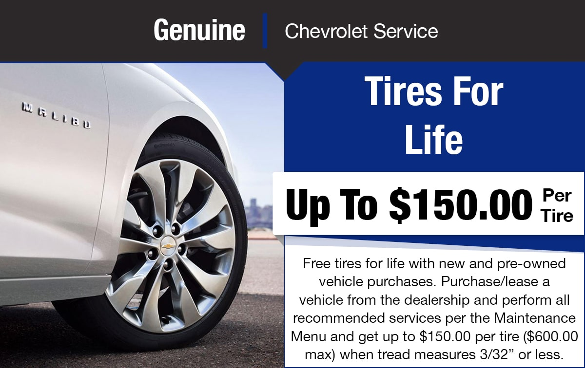 Chevrolet Tires For Life Special Coupon