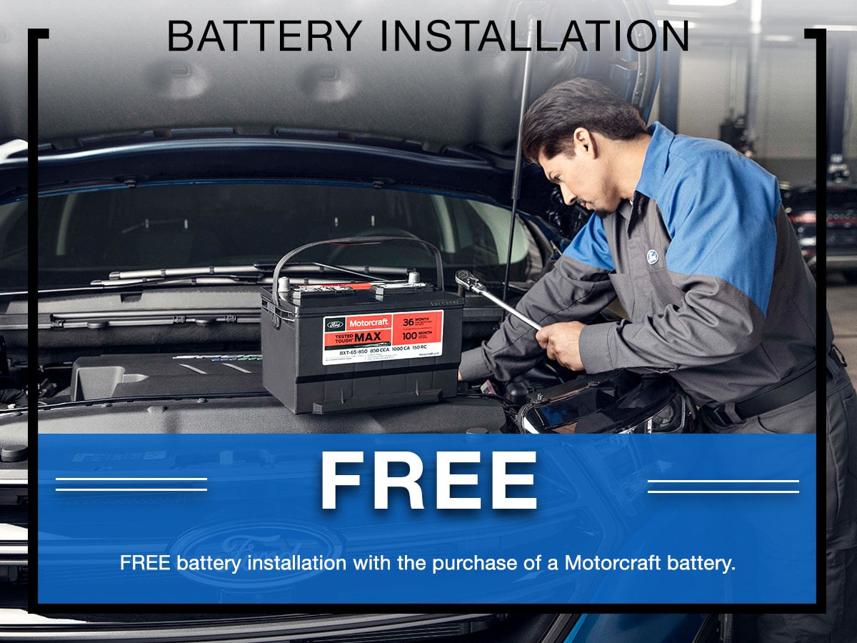 Battery Installation Special Coupon