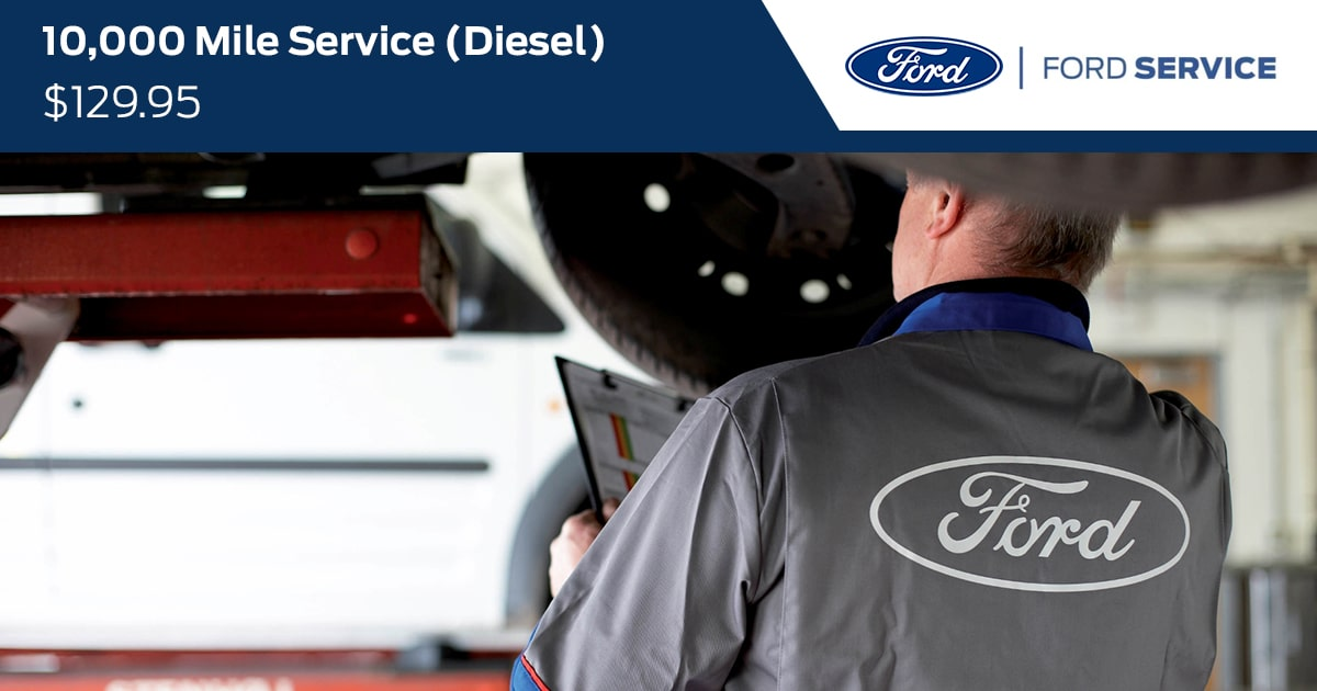 Ford 10000 Mile Diesel Service Special Coupon