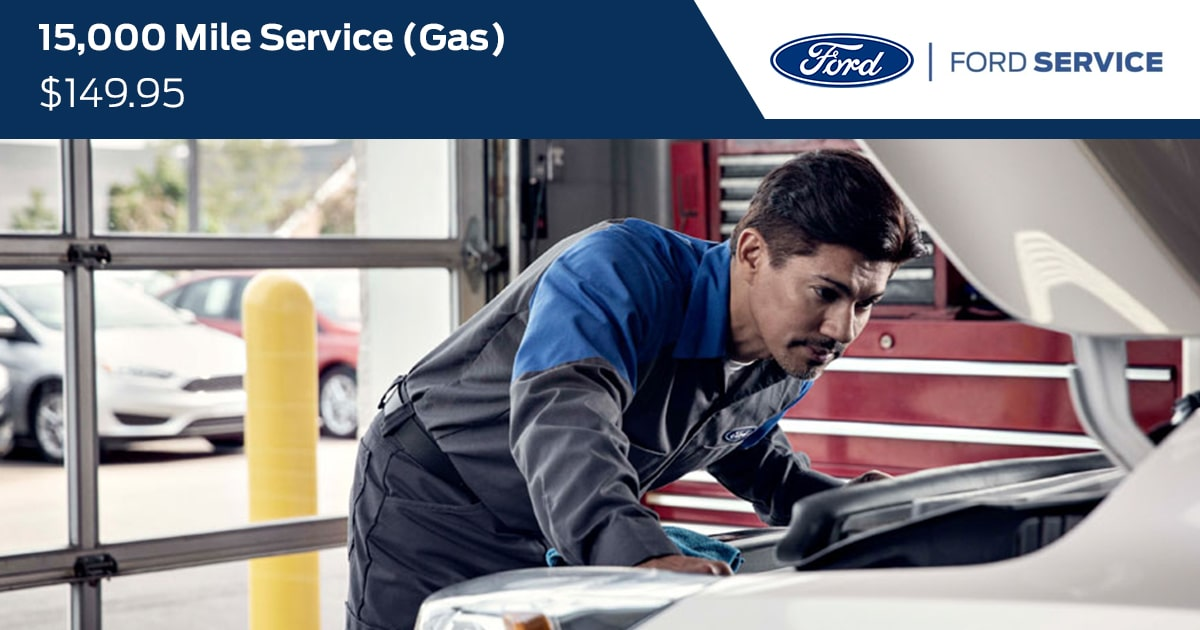 Ford 15000 Mile Gas Service Special Coupon