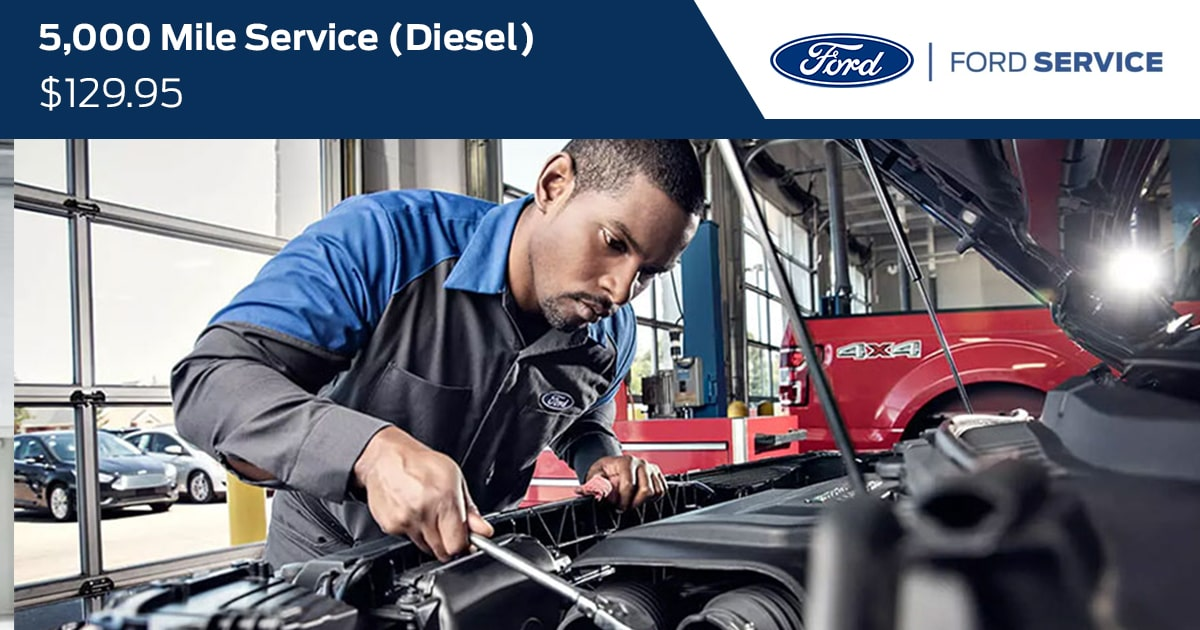 Ford 5000 Mile Diesel Service Special Coupon