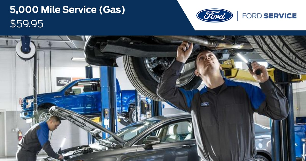 Ford 5000 Mile Gas Service Special Coupon