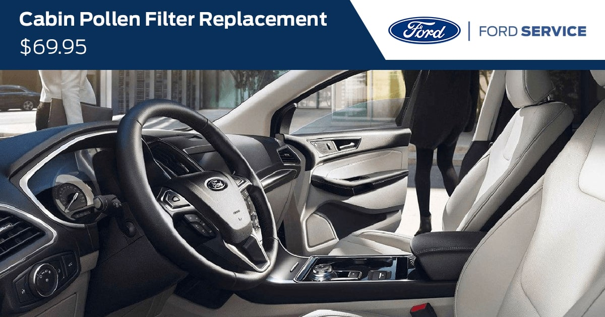 Ford Cabin Pollen Filter Replacement Service Special Coupon