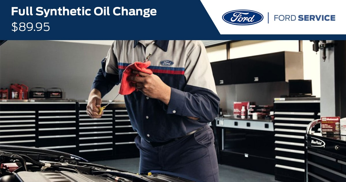 Ford Full Synthetic Oil & Filter Change Service Special Coupon