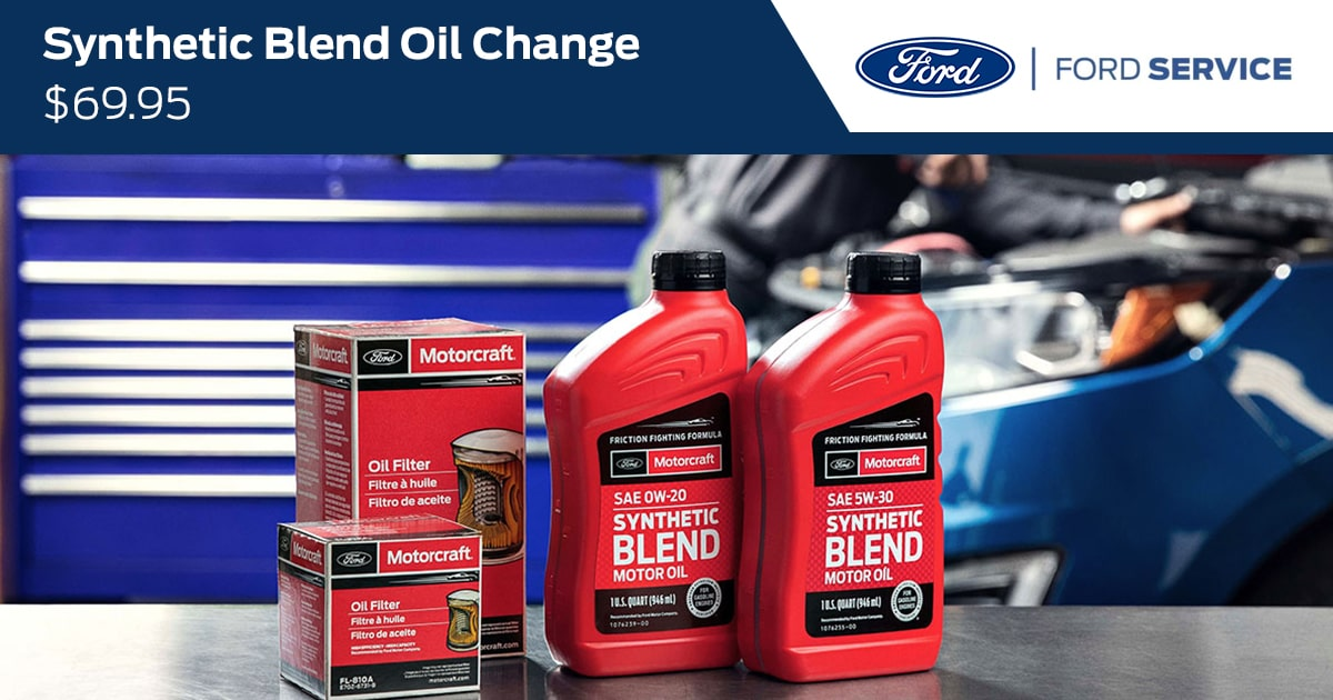 Ford Synthetic Blend Oil & Filter Change Service Special Coupon