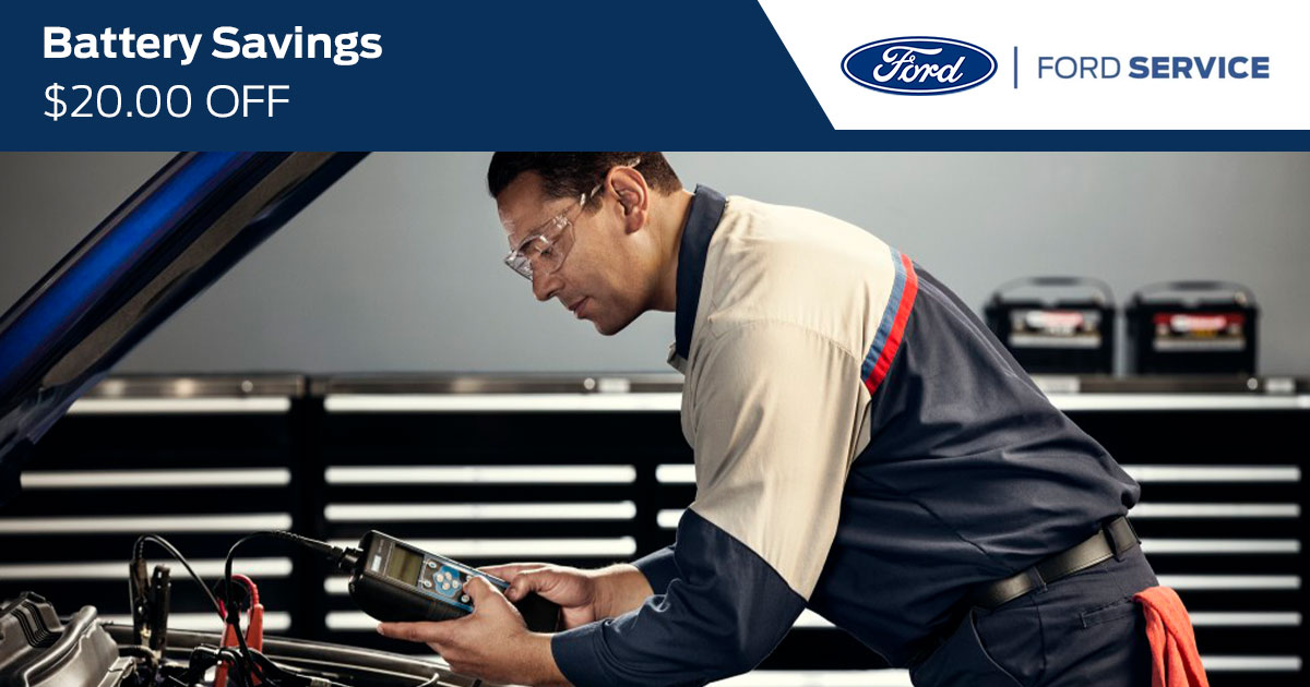 Ford Battery Service Special Coupon