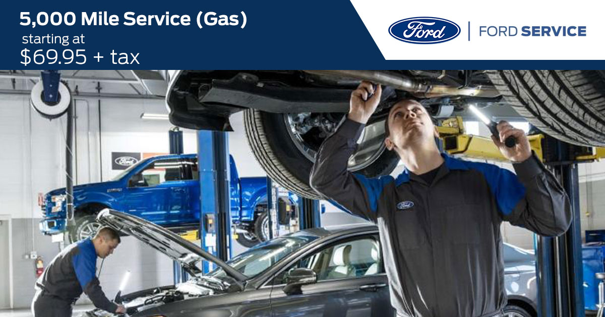 Ford 5,000 Mile Service (GAS) Service Special Coupon