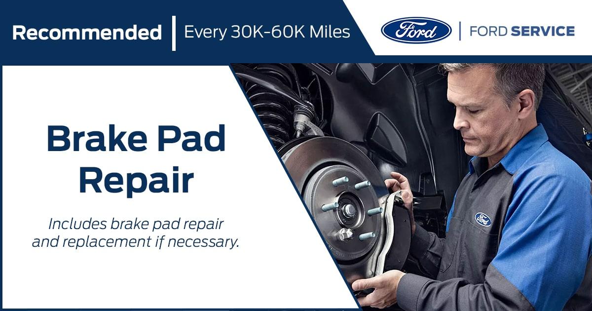 Ford Brake Pad Repair Service Special Coupon