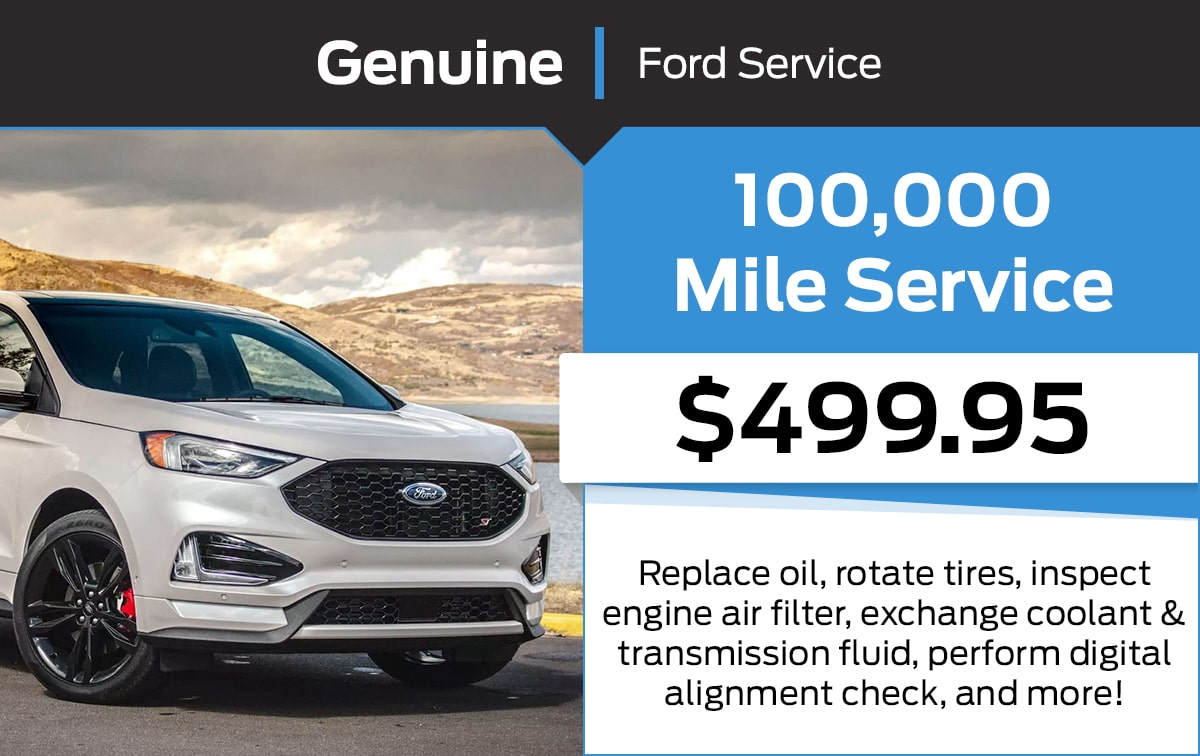 Ford 100,000 Mile Service Special Coupon