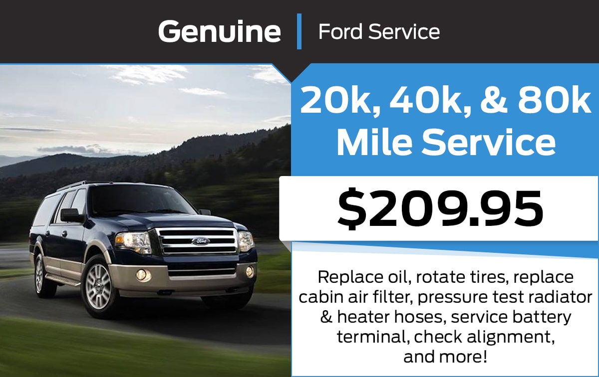 Ford 20k, 40k, & 80k Mile Service Special Coupon
