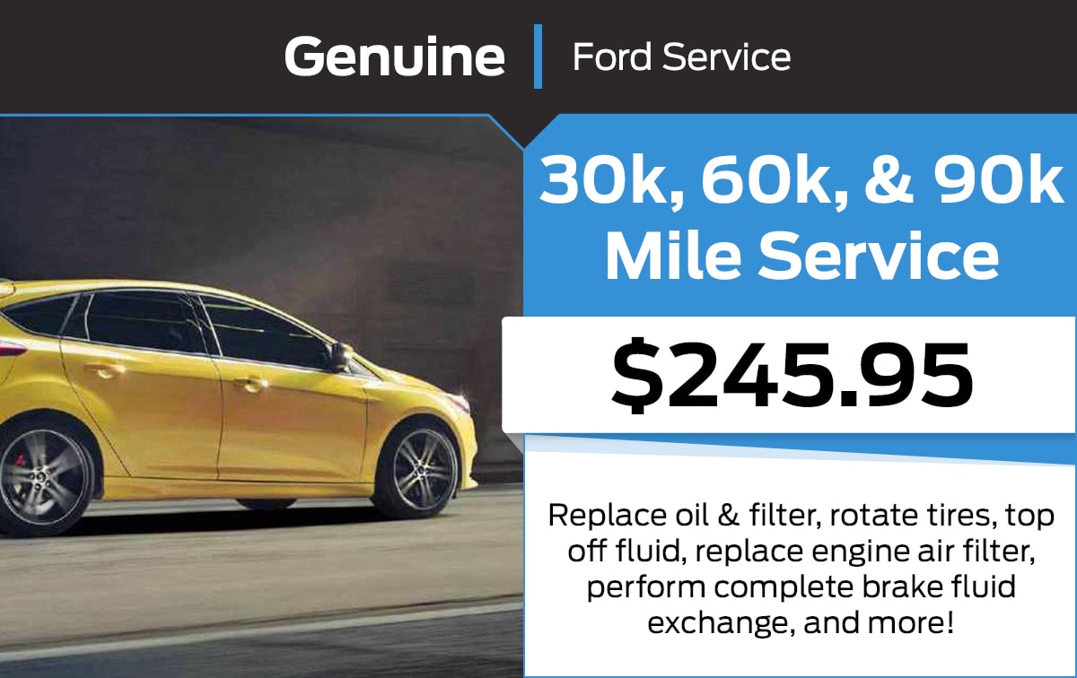 Ford 30k, 60k, & 90k Mile Service Special Coupon