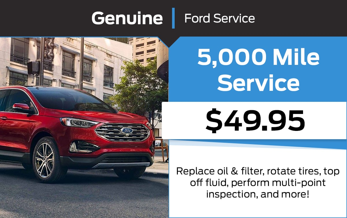 Ford 5,000 Mile Service Special Coupon
