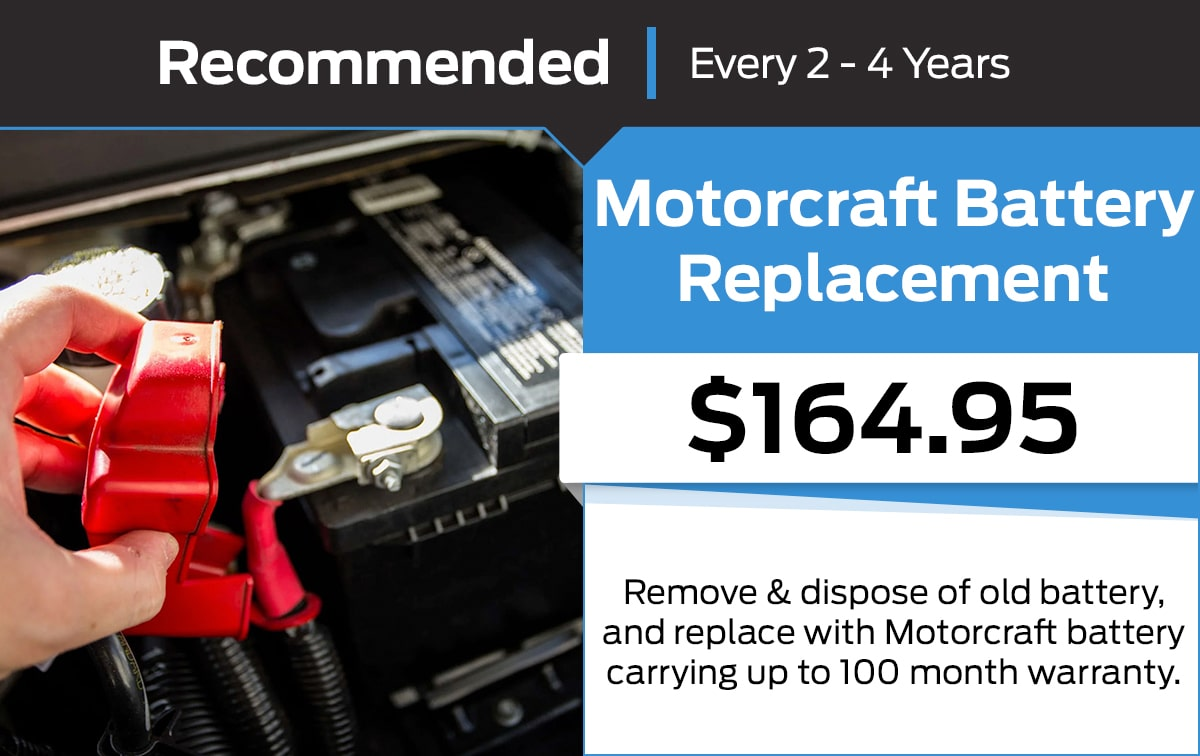 Ford Motorcraft Battery Replacement Service Special Coupon