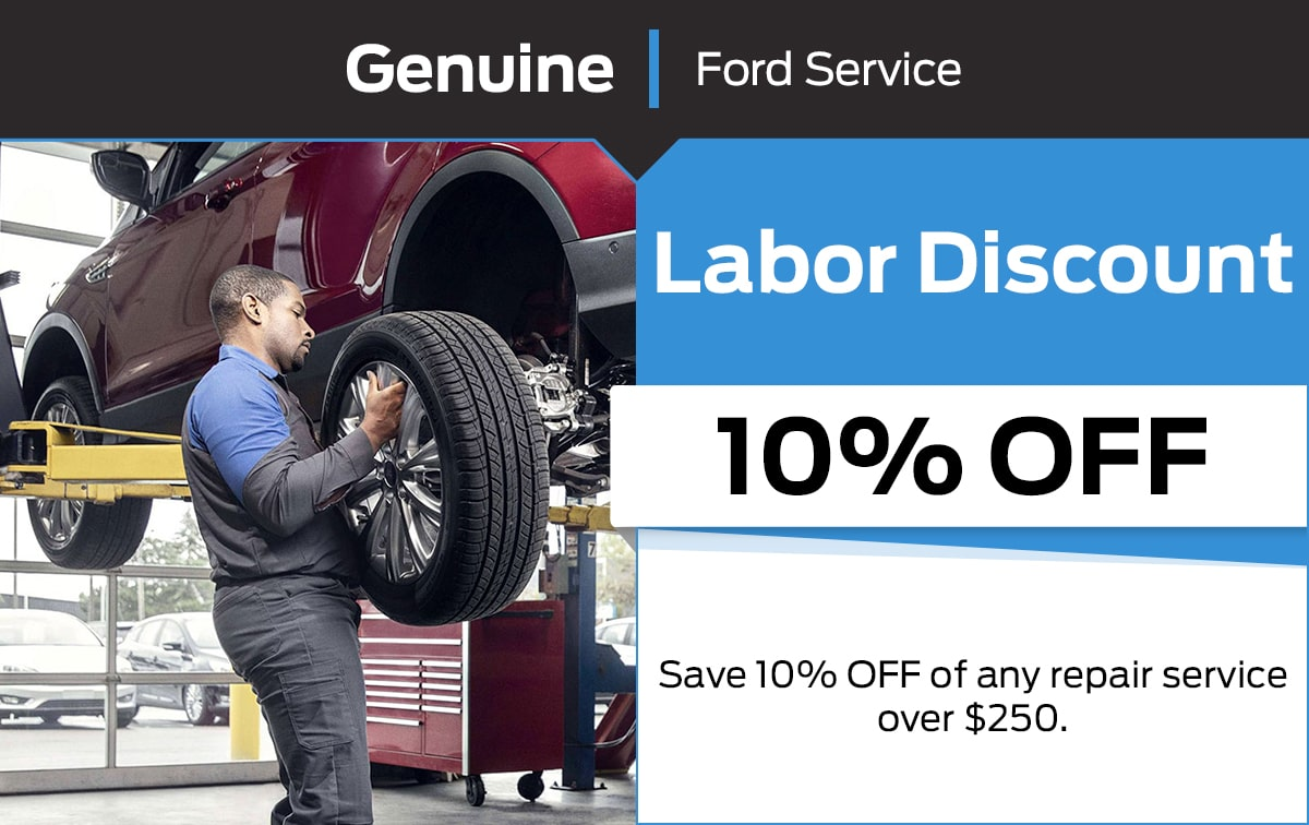 Ford Labor Discount Service Special Coupon