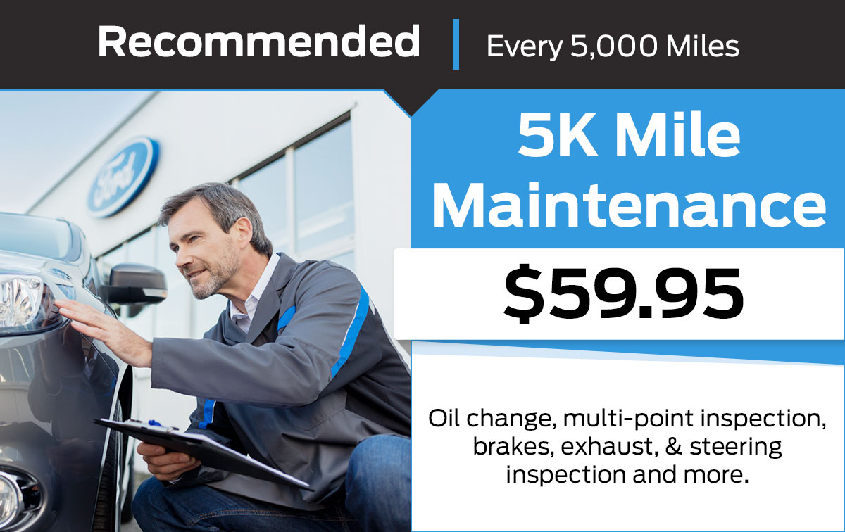 Ford 5K Mile Maintenance Service Special Coupon