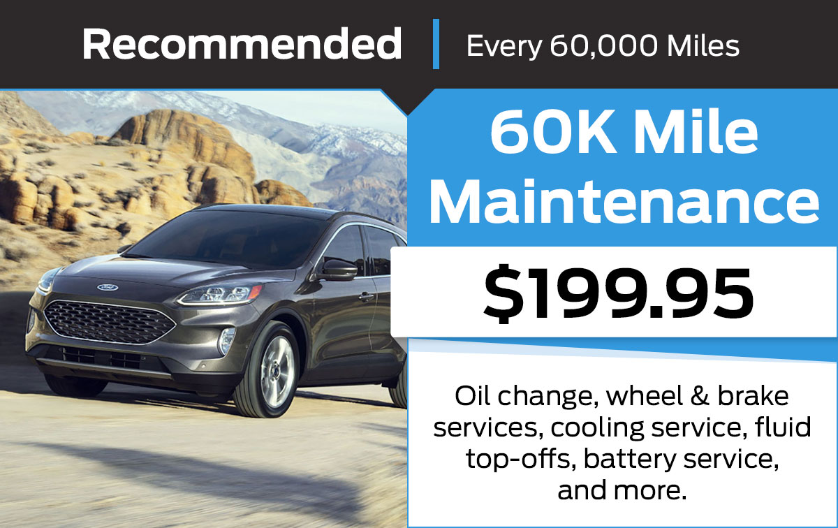 Ford 60K Mile Maintenance Service Special Coupon