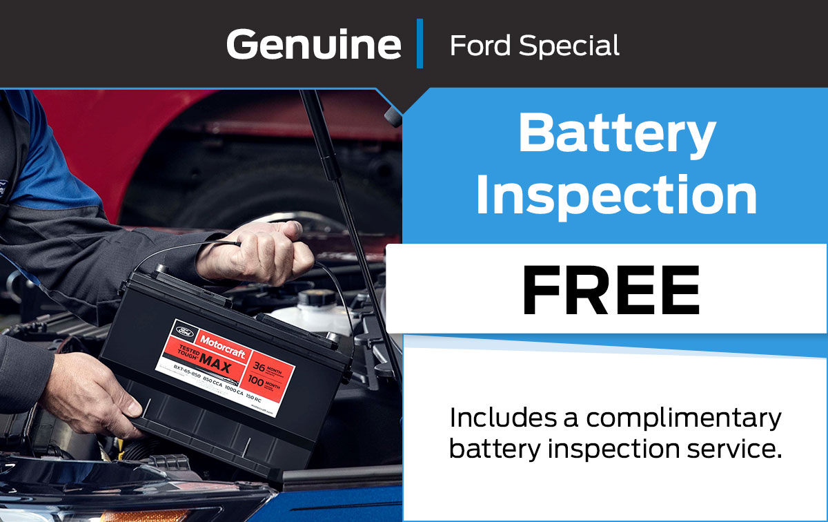 Ford Battery Inspection Service Special Coupon