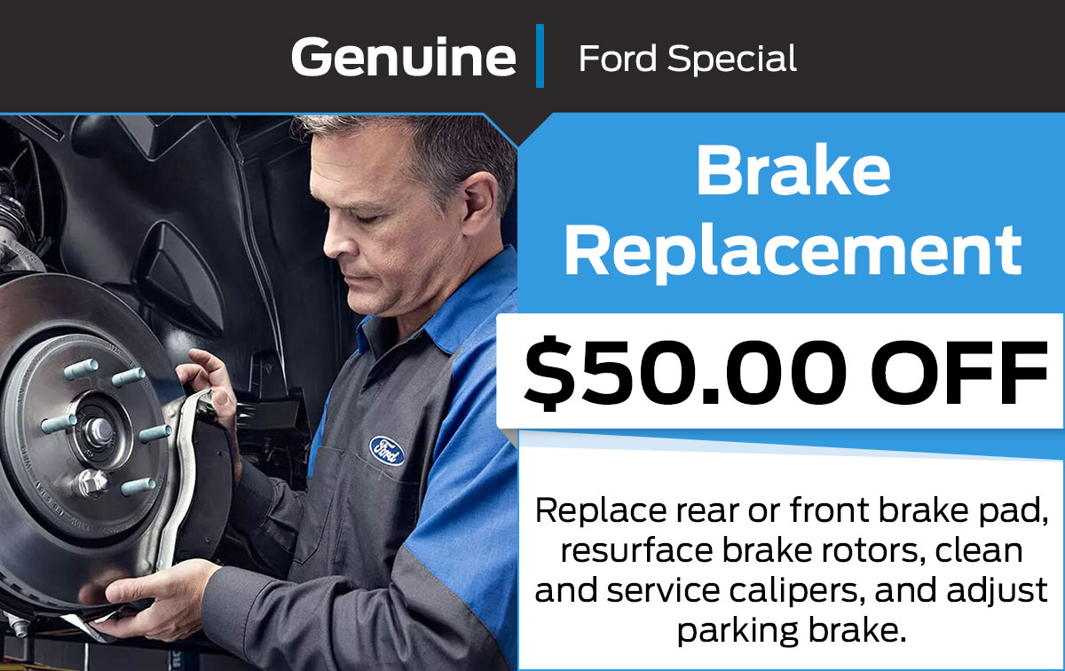 Ford Brake Replacement Service Special Coupon