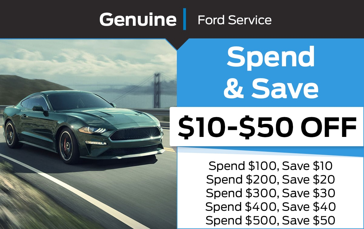 Ford Spend & Save Service Special Coupon