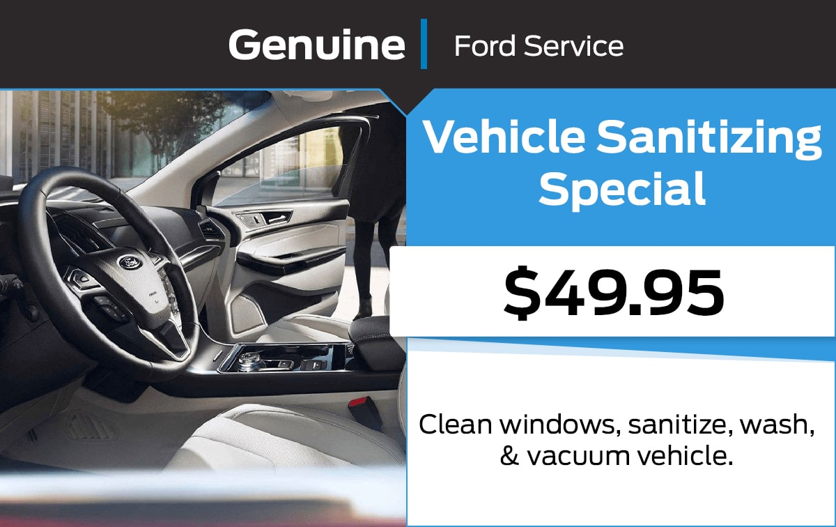 Ford Vehicle Sanitizing Service Special Coupon