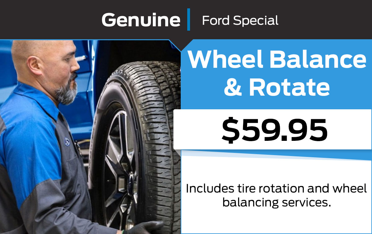 Ford Wheel Balance + Rotate Service Special Coupon