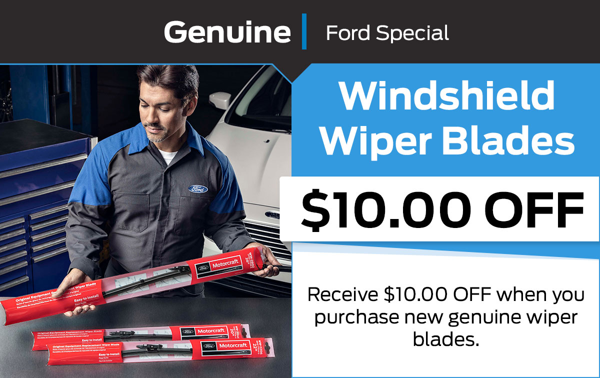Ford Windshield Wiper Blades Service Special Coupon