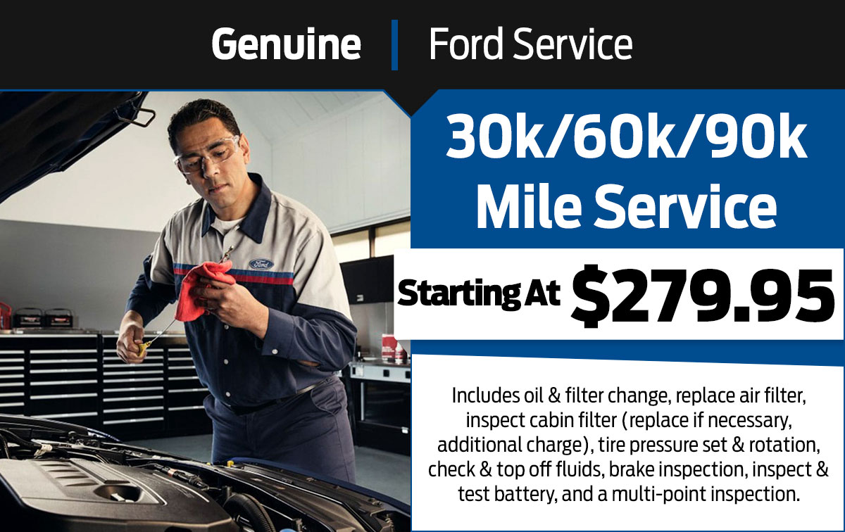 Ford 30,000 Mile Service Special Coupon