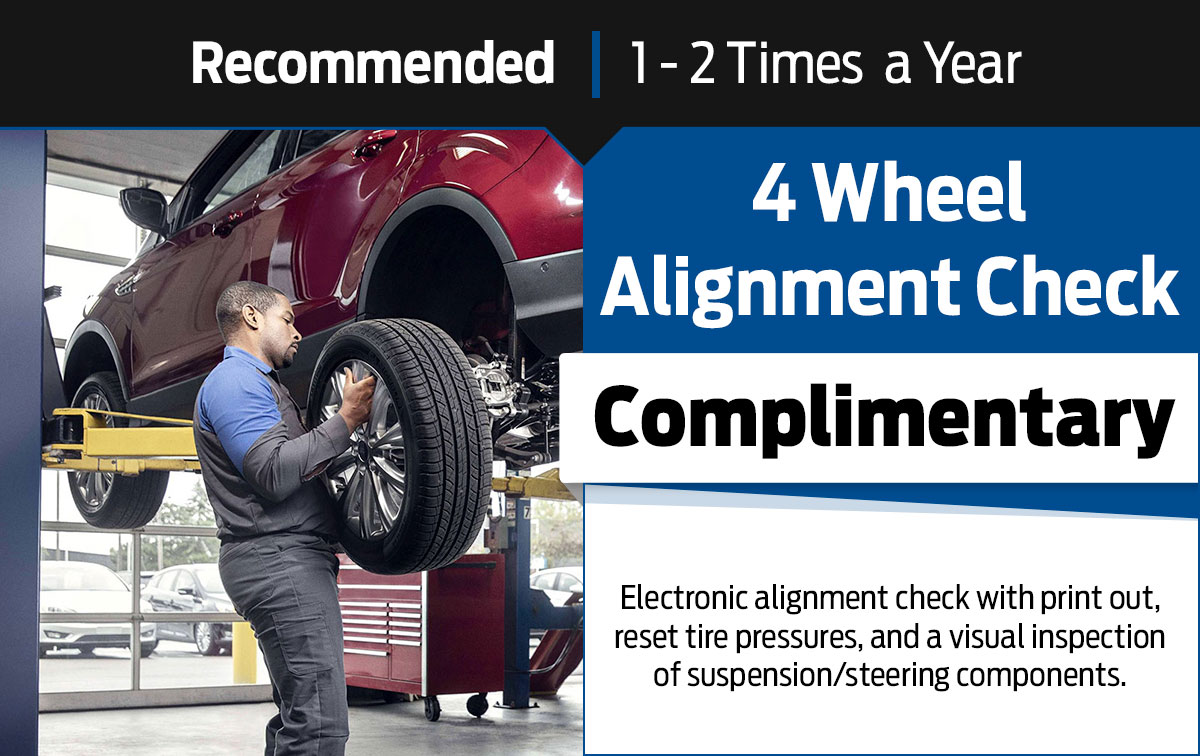 4 Wheel Alignment Check Service Special Coupon