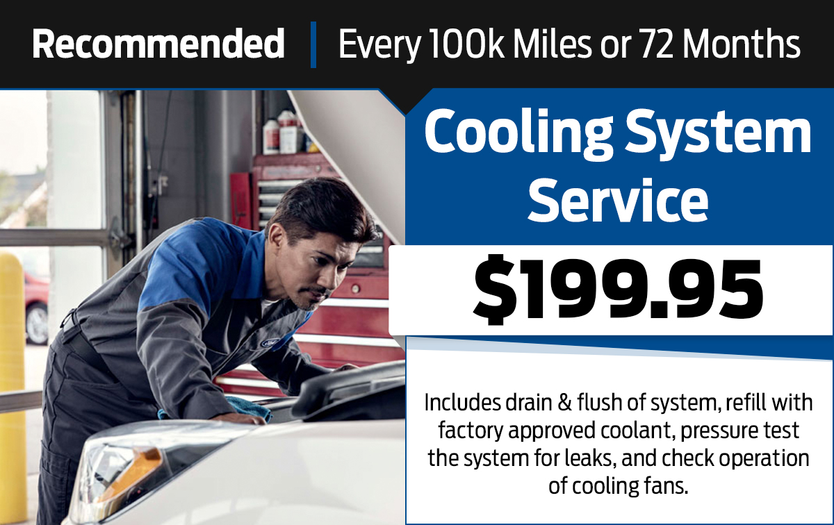 Cooling System Service Special Coupon