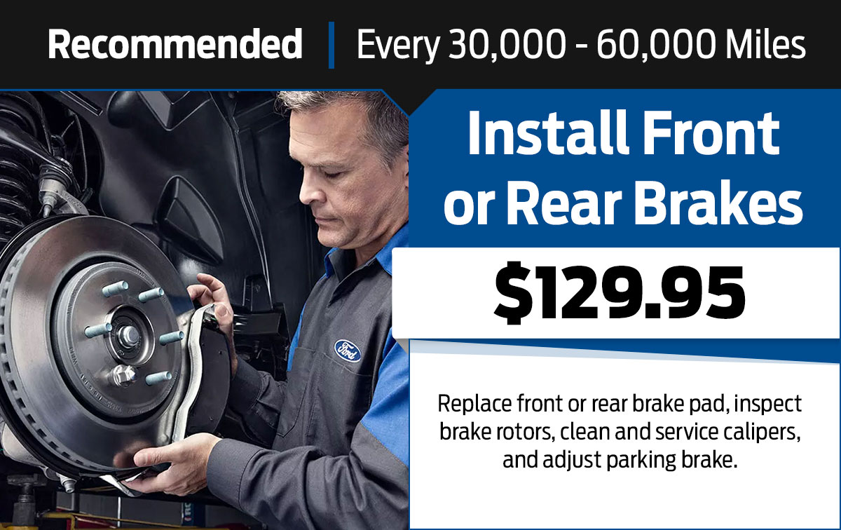 Install Front or Rear Brakes Service Special Coupon