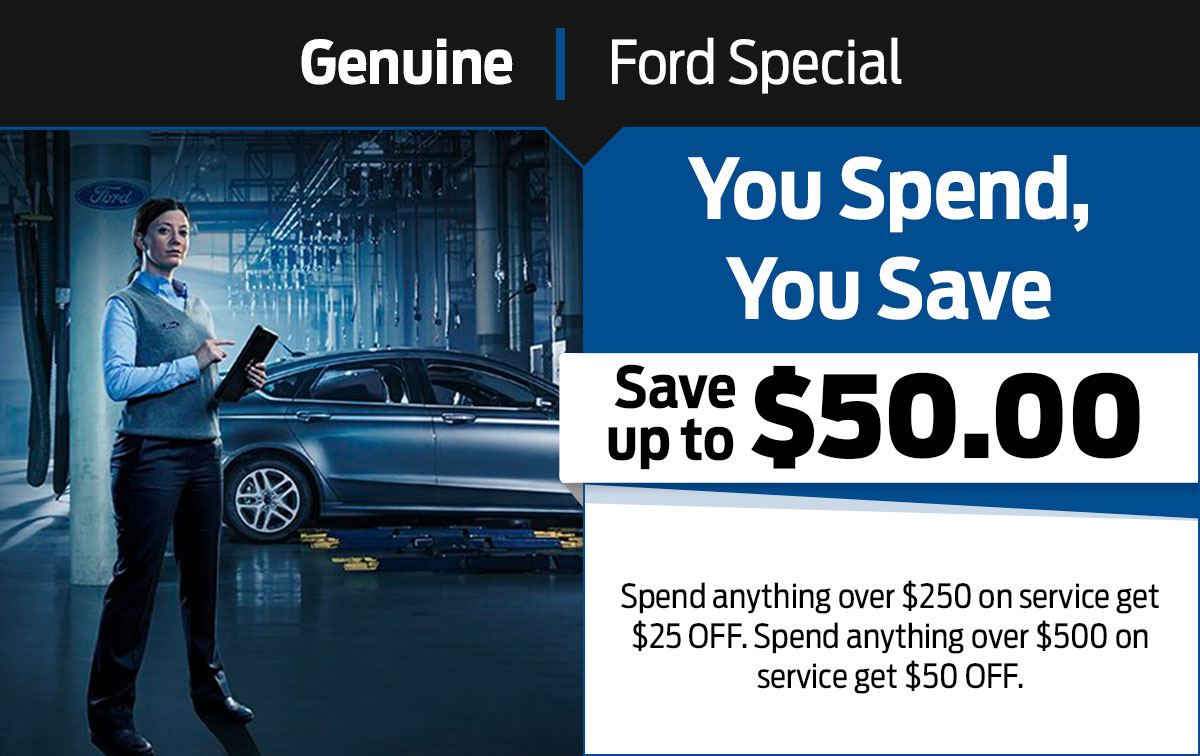 You Spend, You Save Service Special Coupon