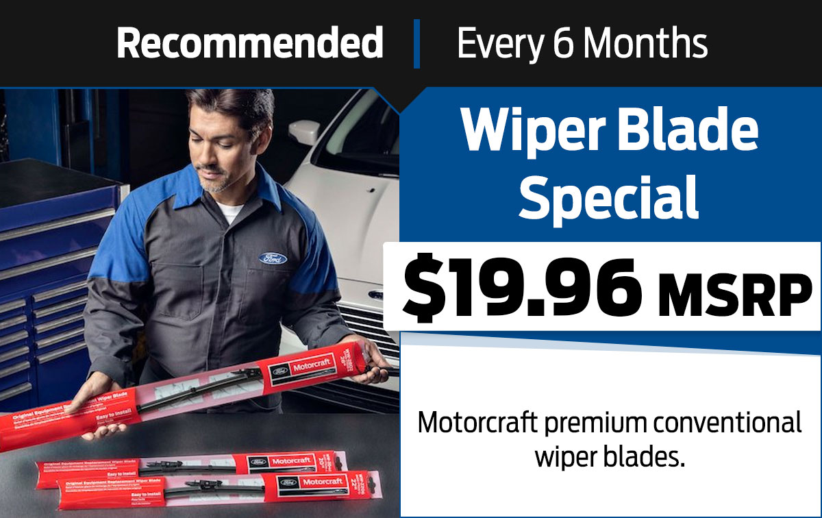 Ford Wiper Blade Service Special Coupon