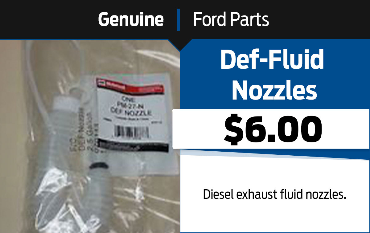 Ford Def Fluid Nozzles Special Coupon