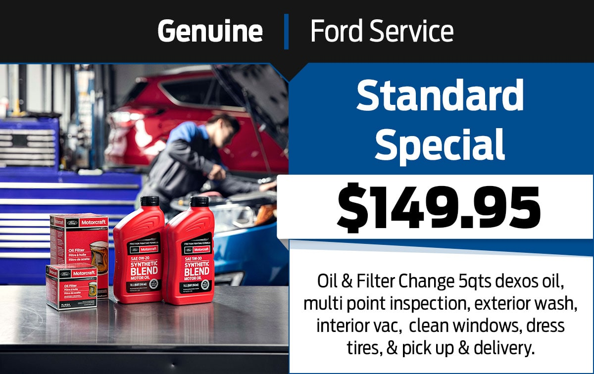 Ford Standard Special Service Special Coupon