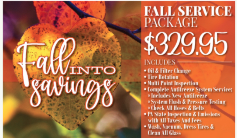 Fall Service Package Automotive Offer
