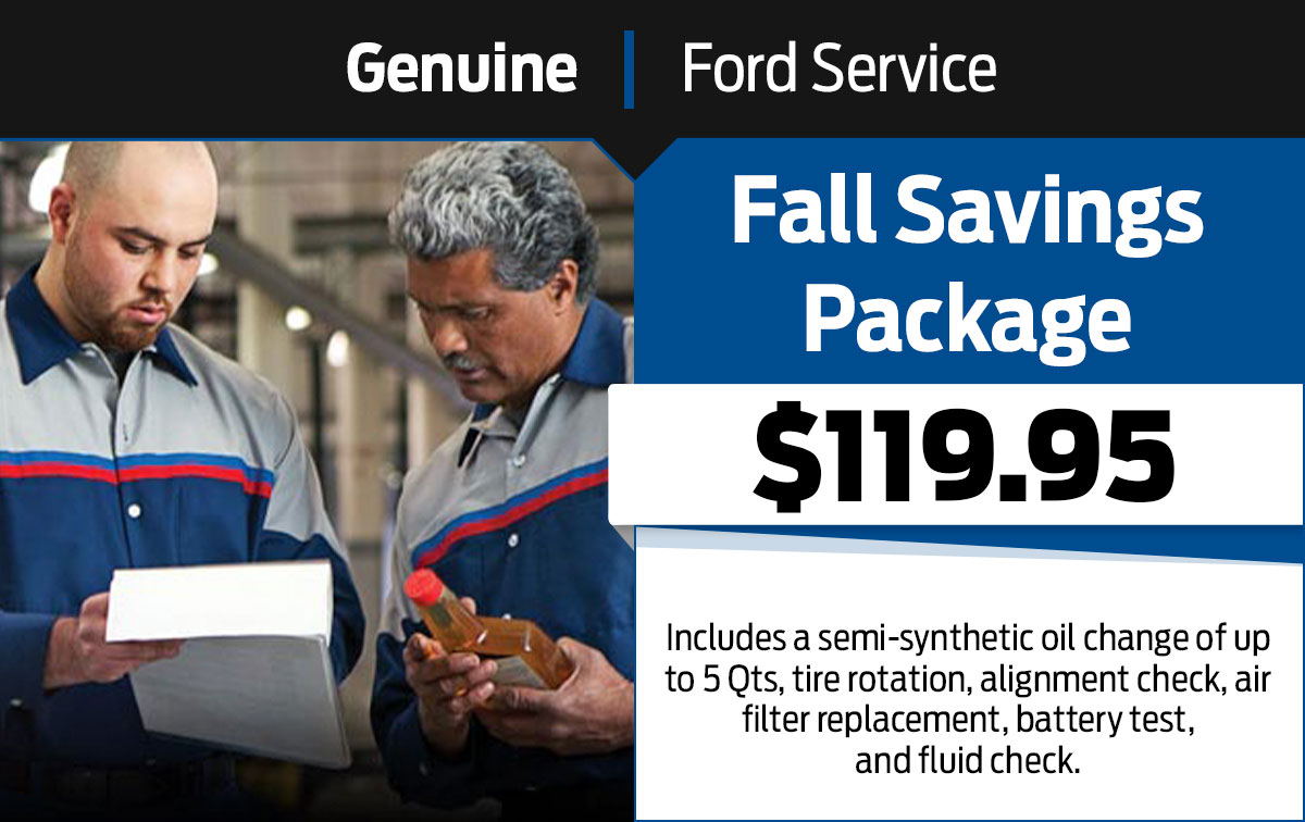 Ford Fall Savings Special Coupon