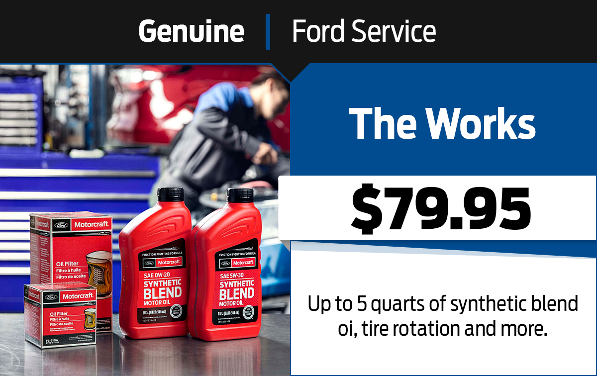 Ford Works Package Service Special Coupon