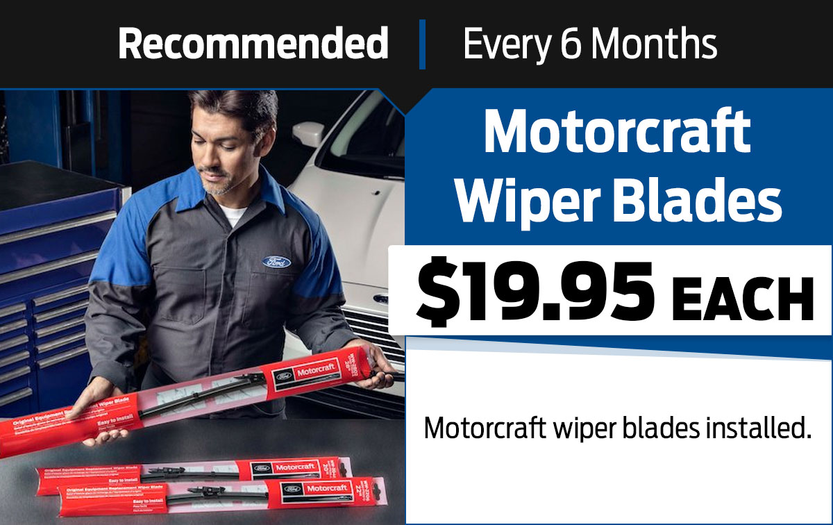 Ford Wiper Blade Replacement Service Special Coupon