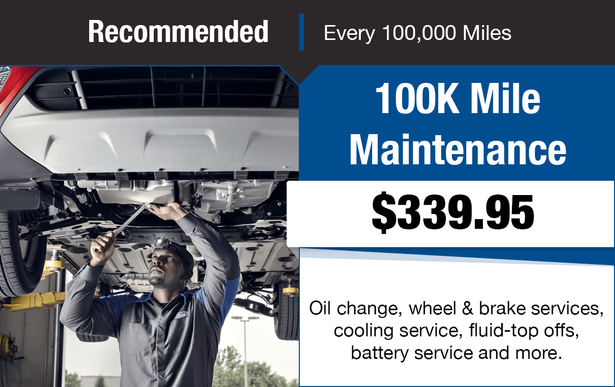 Ford 100K Mile Maintenance Service Special Coupon