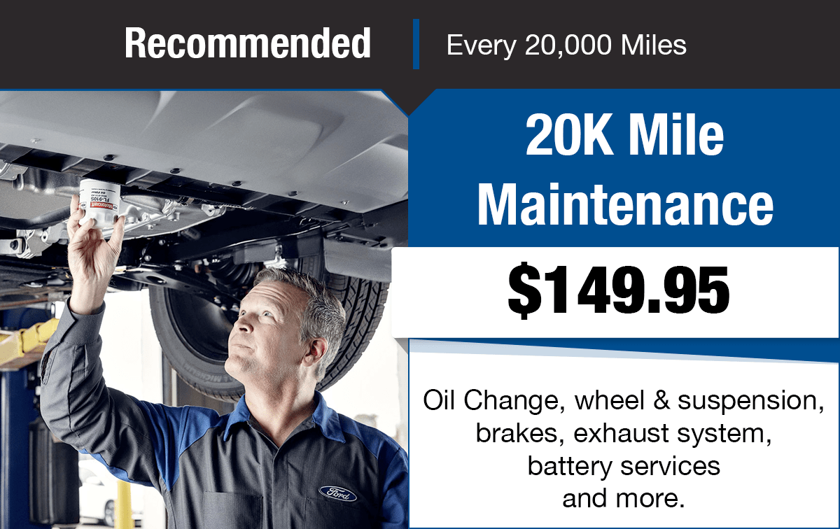 Ford 20K Mile Maintenance Service Special Coupon